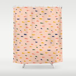 Happy Thoughts - Texture Series 1 Shower Curtain