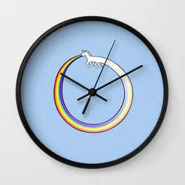 Ouroboros Unicorn Rainbow Vomit Wall Clock
