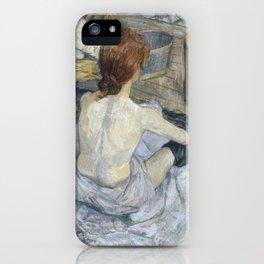 """Henri de Toulouse-Lautrec """"Rousse (La Toilette)"""" iPhone Case"""