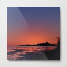 Mt._Iliamna Winter Sunset Metal Print