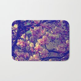 Magnolia flowers design in the garden of spring Bath Mat