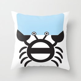Black Crab Throw Pillow