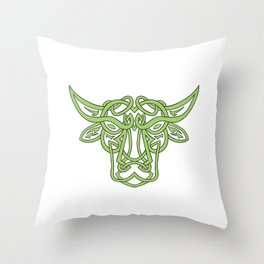 Taurus Bull Celtic Knot Throw Pillow