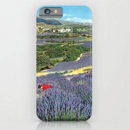 Werbeposter france haute provence champs de iPhone Case