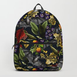Flying Fox and Floral Pattern Backpack