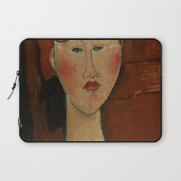 """Amedeo Modigliani """"Femme aux cheveux rouge (Woman with Red Hair)"""" Laptop Sleeve"""