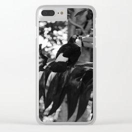 Black and White Tucano bird - Brazil Clear iPhone Case