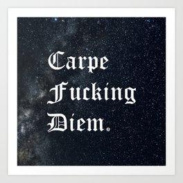 Carpe Diem (Seize The Day) Art Print