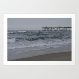 Overcast Day at Nag's Head Art Print