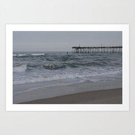 Overcast Day at Nag's Head Art Print