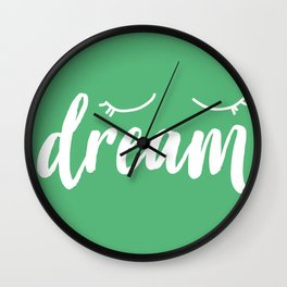 Evergreen Dream Wall Clock