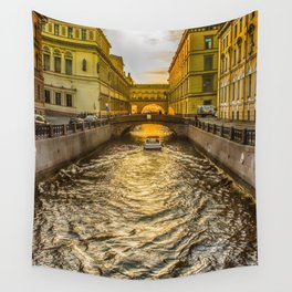 Swan Canal in St. Petersburg Wall Tapestry
