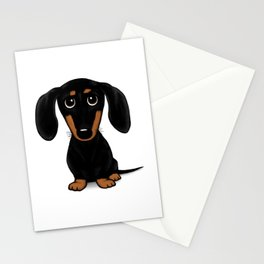 Black and Tan Shorthaired Dachshund Stationery Cards