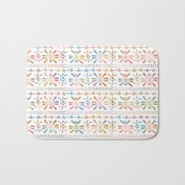 Rainbow Butterfly Insects Bath Mat