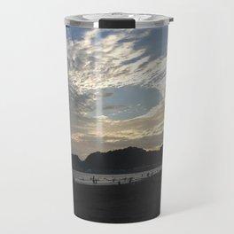 The sunset of Kamakura beach Travel Mug
