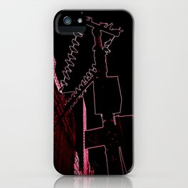 red light district iPhone Case