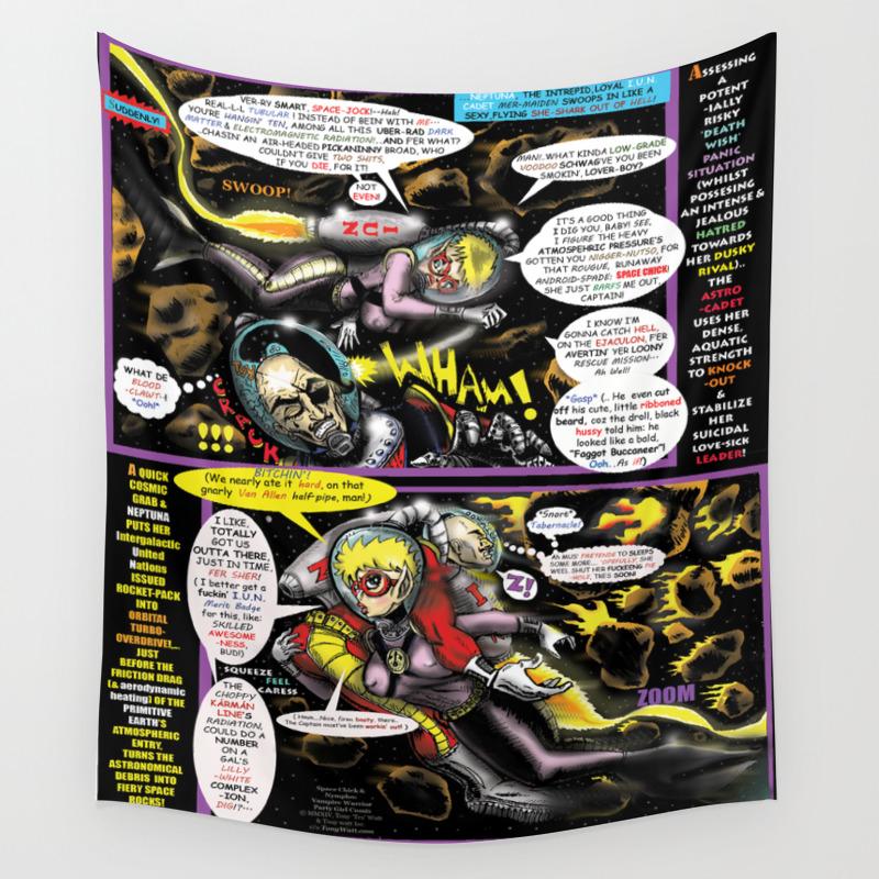 Page #4 of Tex Watt's (UNCENSORED) SUNDAY COMIX POP-ART Wall Tapestry