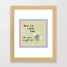 Mary Had a Little Lamb Framed Art Print