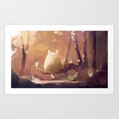 Ghibli : Gone Fishing Art Print