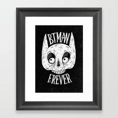 Bat skull Framed Art Print