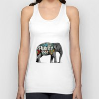 monster inc Tank Tops featuring Ivory Inc. by pat langton