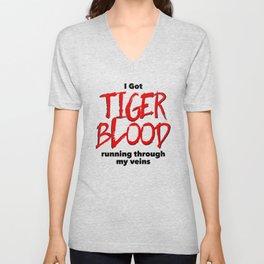 Tiger Blood Unisex V-Neck