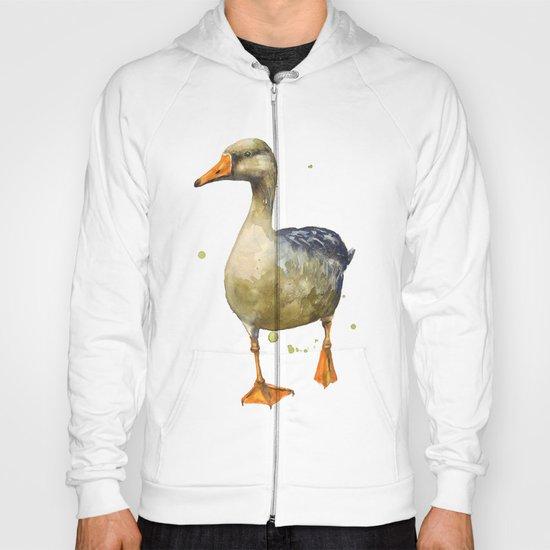 Goose, golden goose, goosey goosey gander, fowl art, farmyard animals, kitchen wall art Hoody