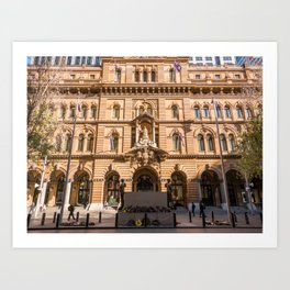 Sydney Cenotaph and Historic GPO Building, Martin Place, Sydney Art Print