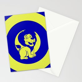 Blue Baby lion Stationery Cards