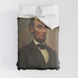 Oil Painting of Abraham Lincoln (1809-1865) by The Alfred Whital Stern Collection of Lincolniana col Comforters