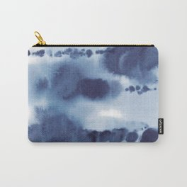 Navy Watercolour Abstract 2 Carry-All Pouch
