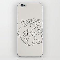 One Line Pug iPhone & iPod Skin