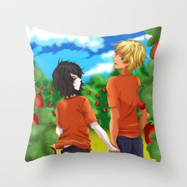 Solangelo Strawberry fields Throw Pillow