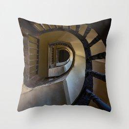 Pretty spiral wooden staircase Throw Pillow