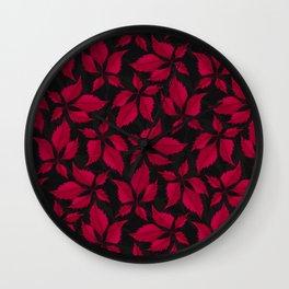 Autumn Leaves (Jet) Wall Clock