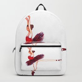Red Ballerina Backpack