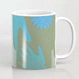 Babysitter Blue Tan Hands Coffee Mug
