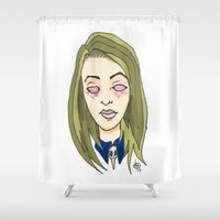 coven Shower Curtains featuring Blinded For The Coven by Dan Paul Roberts