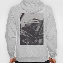 Super car details, british triumph spitfire, black & white, high quality fine art print, classic car Hoody