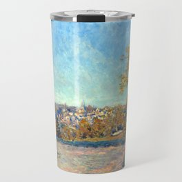 Alfred Sisley View of Marly-le-Roi from Coeur-Vola Travel Mug