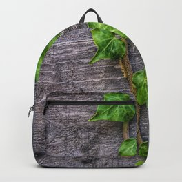 Ivy on Wood Wallpaper Backpack