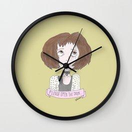 Mathilda is asking you to open the door...  Wall Clock