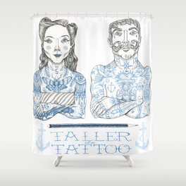 Taller Tattoo Shower Curtain