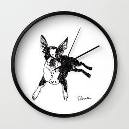 Holly Goes to Malaga Wall Clock