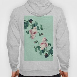 Roses Mint Green + Pink Hoody