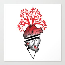 heart tree carejulian Canvas Print