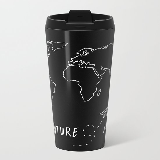 Adventure Map Metal Travel Mug