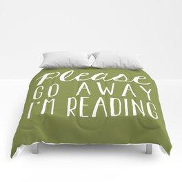 Please Go Away, I'm Reading (Polite Version) - Green Comforters
