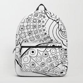 Persian Cat Skull Mandala, coloring fun! Backpack