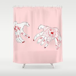 Grab A$$ Shower Curtain